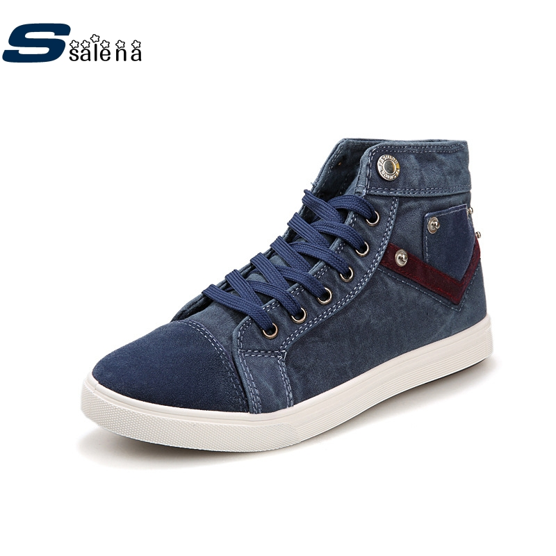 Platform Canvas Shoes Men Breathable Mesh