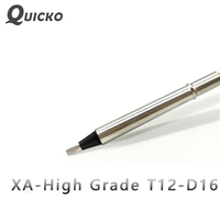 QUICKO T12 D16 XA high grade T12 Black welding Tips soldering iron for HAKKO FX951/952 OLED/LED soldering station 7S melt tin|Welding Tips| |  -