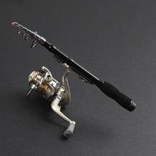Mini Portable Retractable Short Carbon Fishing Rod