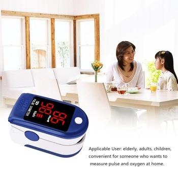Pressure Monitor LED Digital SpO2 Fingertip Pulse Oximeter Oxygen Blood Oxygen Sensor Saturation Level Meter Home Finger Monitor