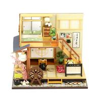 Simulation House Furniture DIY Mini Dust Cover Forest Holiday Japanese Style Cottage Doll House Toys For Children Birthday Gift