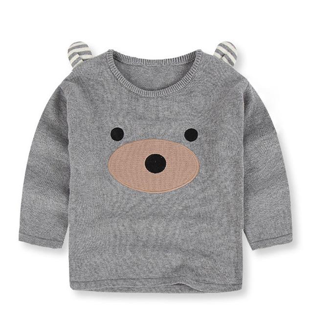 2017 Otoño Invierno Nuevos Niños Suéter de Algodón Carácter Patrón de Suéter de La Princesa Niños Del Bebé Muchacho de Los Niños Ropa Niños Suéter