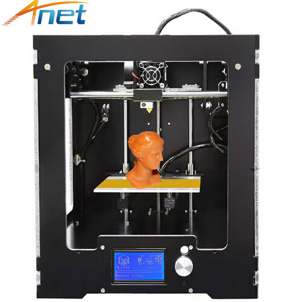 Anet A3 Full Assembled Desktop 3D Printer Big Print Size Precision Reprap Prusa i3 3D Printer with Filaments+16G SD Card anet e10 easy assembler 3d printer reprap prusa i3 aluminum frame diy 220 270 300mm large print size with filament sd card