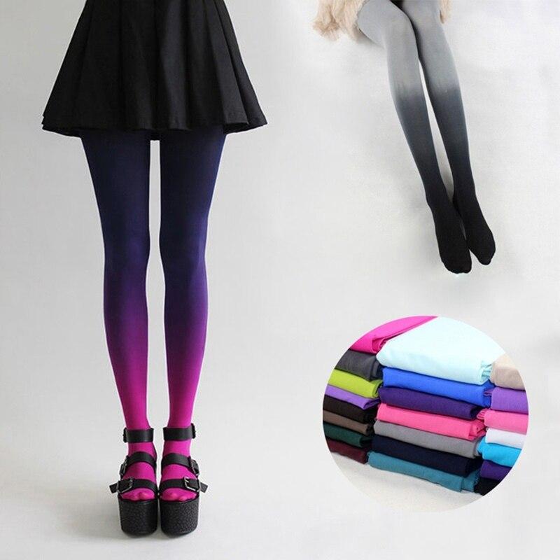Women Sexy Tights Fashion 20D Elastic Hosiery Slim Tights Gradient Colors Tights Ladies Hosiery Tights
