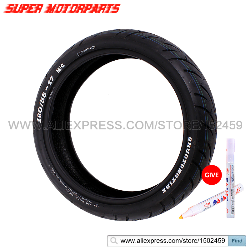 все цены на  180/55-17 Motorcycle Tire For Honda CBR600 F5 SUZUKI K5 K6 For YAMAHA R1 R6 HORNET Rear Tire 180 55 17 FREE MARKER  онлайн