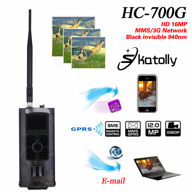 Skatolly HC-700G Full HD 16MP 1080P Hunting Trail Camera HC700G Video Night Vision 3G MMS GPRS Scouting Game+Free shipping! free shipping ip56 waterproof mms gprs night vision trail game hunting camera 0 2s shooting time three sensors cam