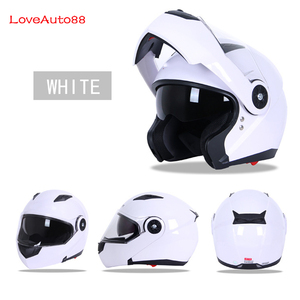 Image 5 - フルフェイスプロフェッショナルオートバイヘルメット安全ヘルメットレーシングヘルメットモジュラーデュアルレンズオートバイヘルメットユニセックス利用可能