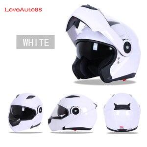Image 5 - Full Face Professional Motorcycle Helmet Safe helmets Racing helmet Modular Dual Lens Motorcycle Helmet Unisex Available