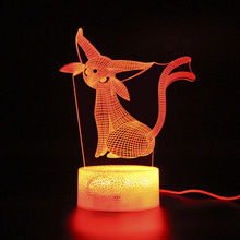 Remote Control Lamp 3d Monster Animal Led Light Illusion Night Projection Kids Gifts