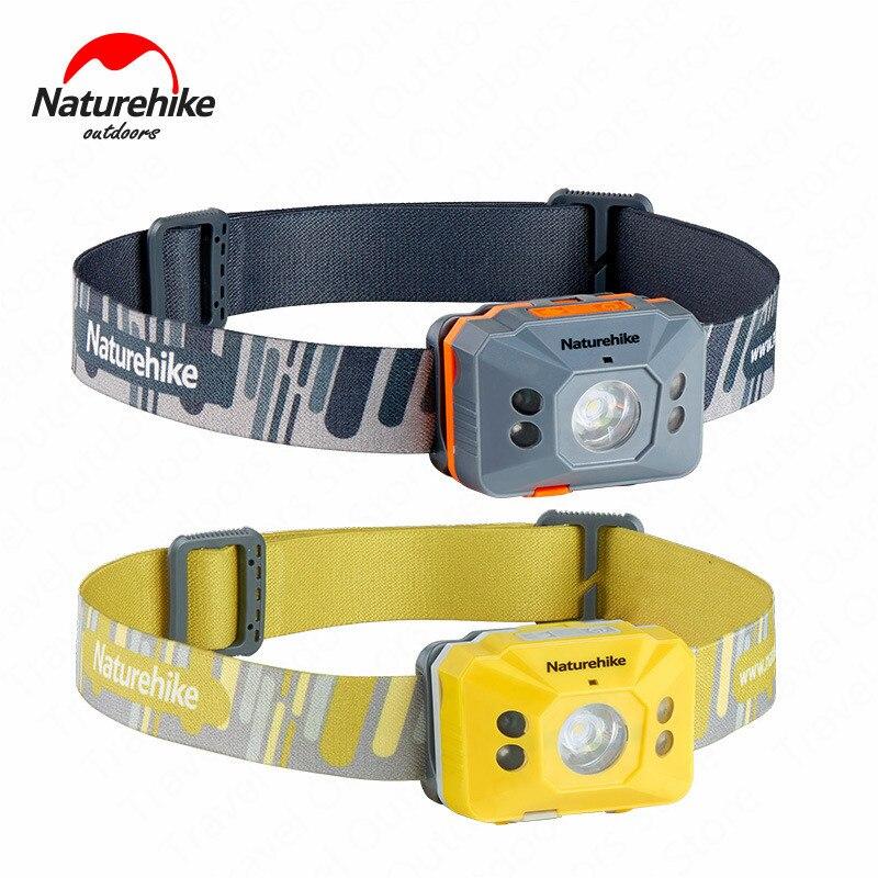 Naturehike Outdoor LED Koplamp Tragbare Scheinwerfer 4 Modi Induktion Schalter Ultraleicht Wasserdichte Camping Laufen Wandern Verwendet