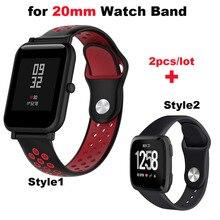 Купить с кэшбэком Silicone Bracelet Watchband Men Women Band 20mm Smart Watch Wrist Pulsera Correa Strap Black Wristband Quick Release WristStrap