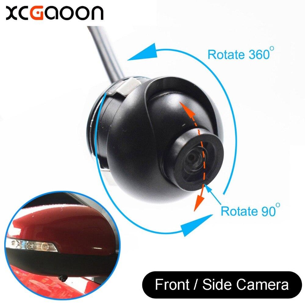XCGaoon мини CCD 140 градуса широк ъгъл реален водоустойчив кола предната камера за изглед, 4 слоя стъкло обектив, не паркинг