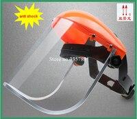 高品質 abs 強化された抗化学スプラッシュ保護マスク抗衝撃バイザー労働安全マスクアルミ合金エッジング