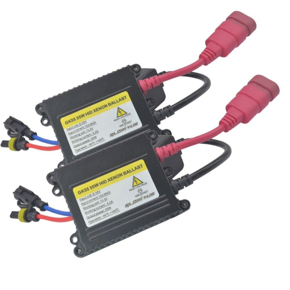 12 V 55 W H4 Bi kit de lampe xénon H4 hid hi lo BI-XENON ampoule 55 W 6000 K 8000 K 4300 K H4 Bi kit xénon - 4