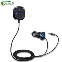 iaotuGo USB Car Charger Bluetooth Hands Free Car Kit Wireless Audio Bluetooth Music Adapter 3.5mm AUX Support Hands Free Call bluetooth hands free adaptor car integrated usb aux jack interface for volkswagen touran 2003 2011