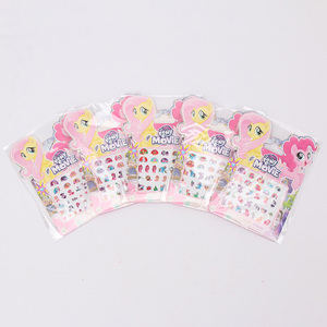 Image 4 - 5pcs/set My Little Pony Toys PVC Pony Stickers Pack Children Girl Nail Stickers 3D Rainbow Dash Twilight Sparkle Pinkie Pie
