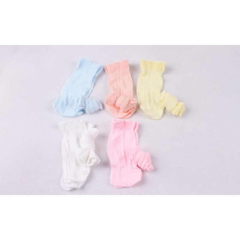 5 ペアソフトベビーソックス新生児幼児男児ガールズ子供の夏の靴下青黄橙ピンク白靴下子供のための