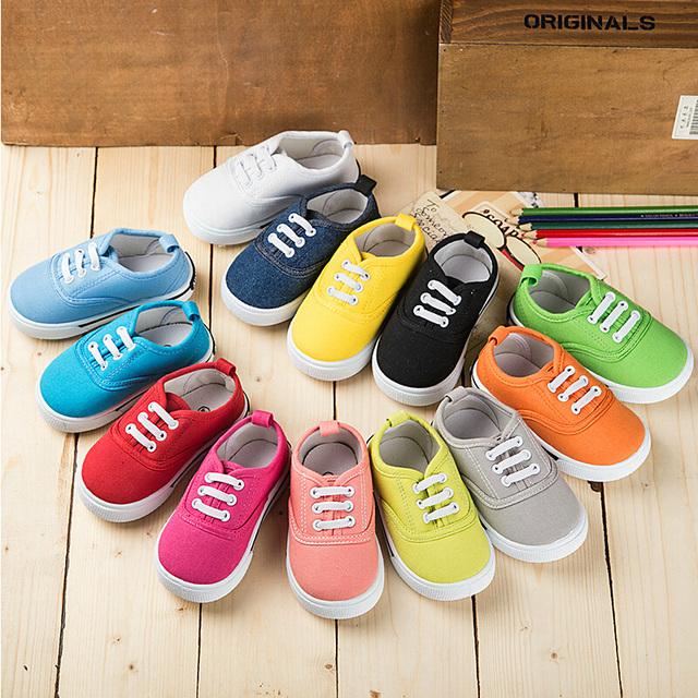 Nova primavera 2017 sapatas de lona sapato branco da criança do menino o período de primavera e outono e os sapatos das crianças tênis sapatos