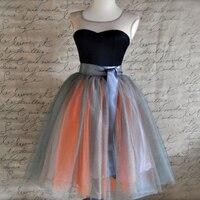 7 Layers Chic Tutu Tulle Skirt Summer Cute Midi Skirts Womens Fashion Party Travel Saias Longa