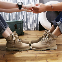 Sneaker Leather Boots Desert Women Shoes Tooling Couple Martin Boots Female Travel Shoes Woman Leather Sports Boots Shoes
