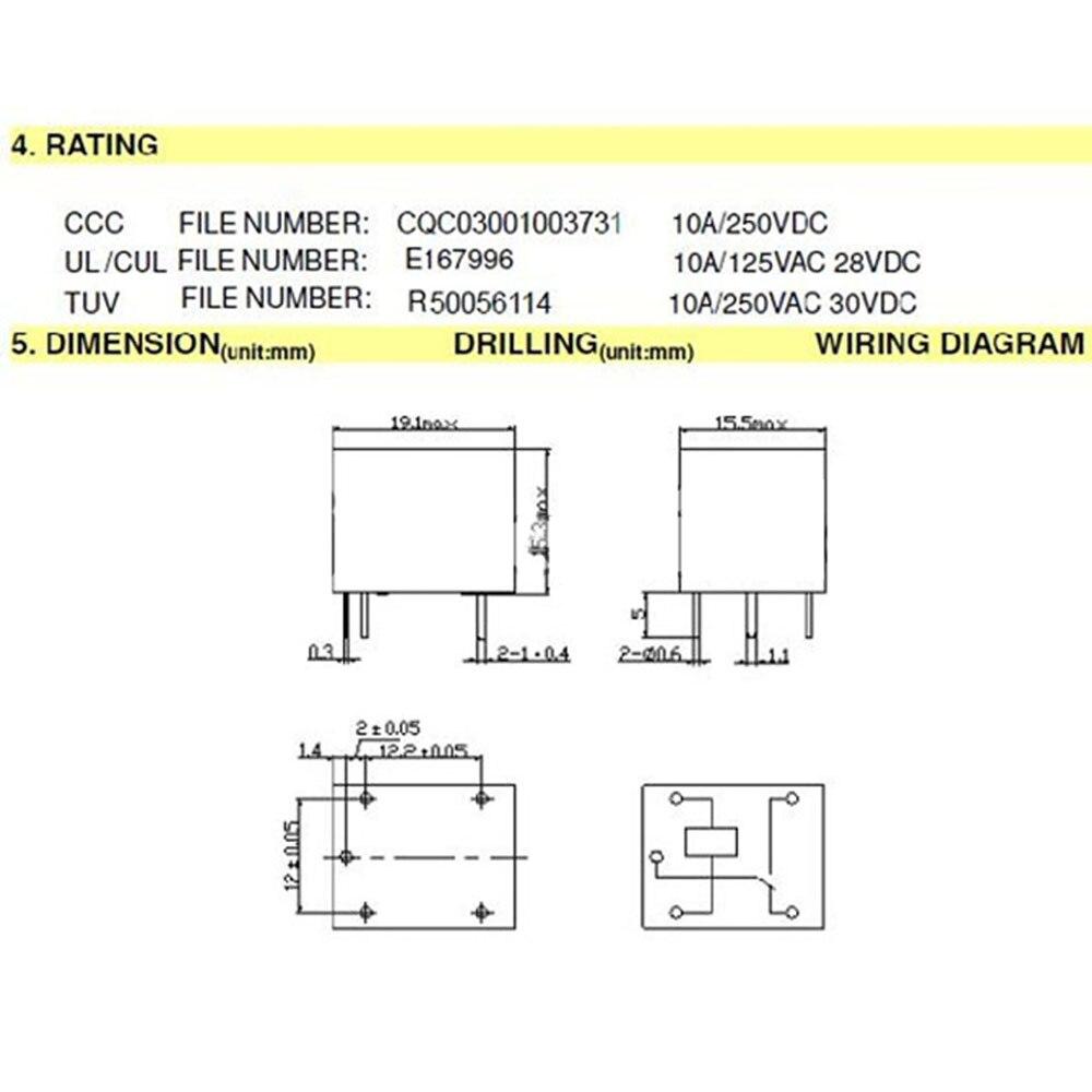 Hobimart 25 Teile Los Srd 12vdc Sl C Pcb Typ Leistungsrelais 12 V Dc Drill Wiring Diagram Songle Freies Verschiffen J199 1 In