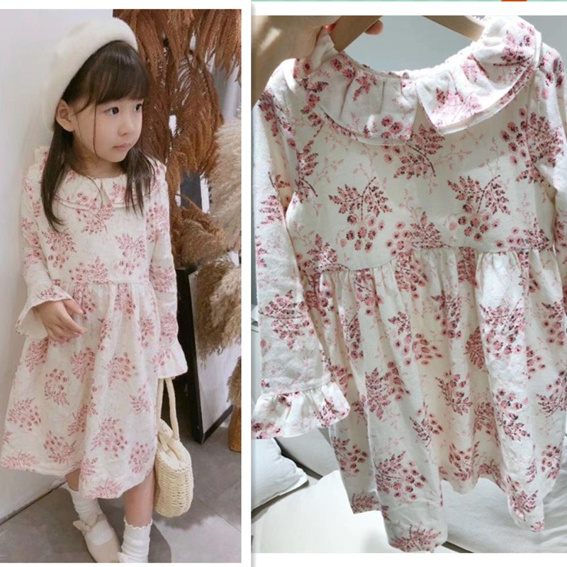 New spring autumn long sleeve girls dress pink print 100% cotton soft dress for girls casual baby girl clothes kids dresses star dress for girl european style bow tutu dress long sleeve mesh girls dresses leisure holiday kids clothes pink black