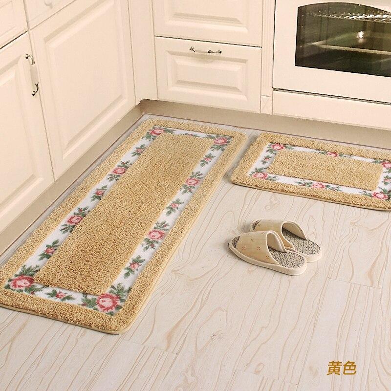 45x75 45x125cm Pastoral Flower Kitchen Mat Home Porch Hallway Door