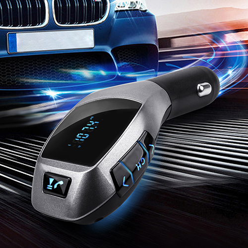 2015 New Bluetooth Car Kit Mp3 Player FM Transmitter X5 USB TF Charger Handsfree Wireless 8PAG