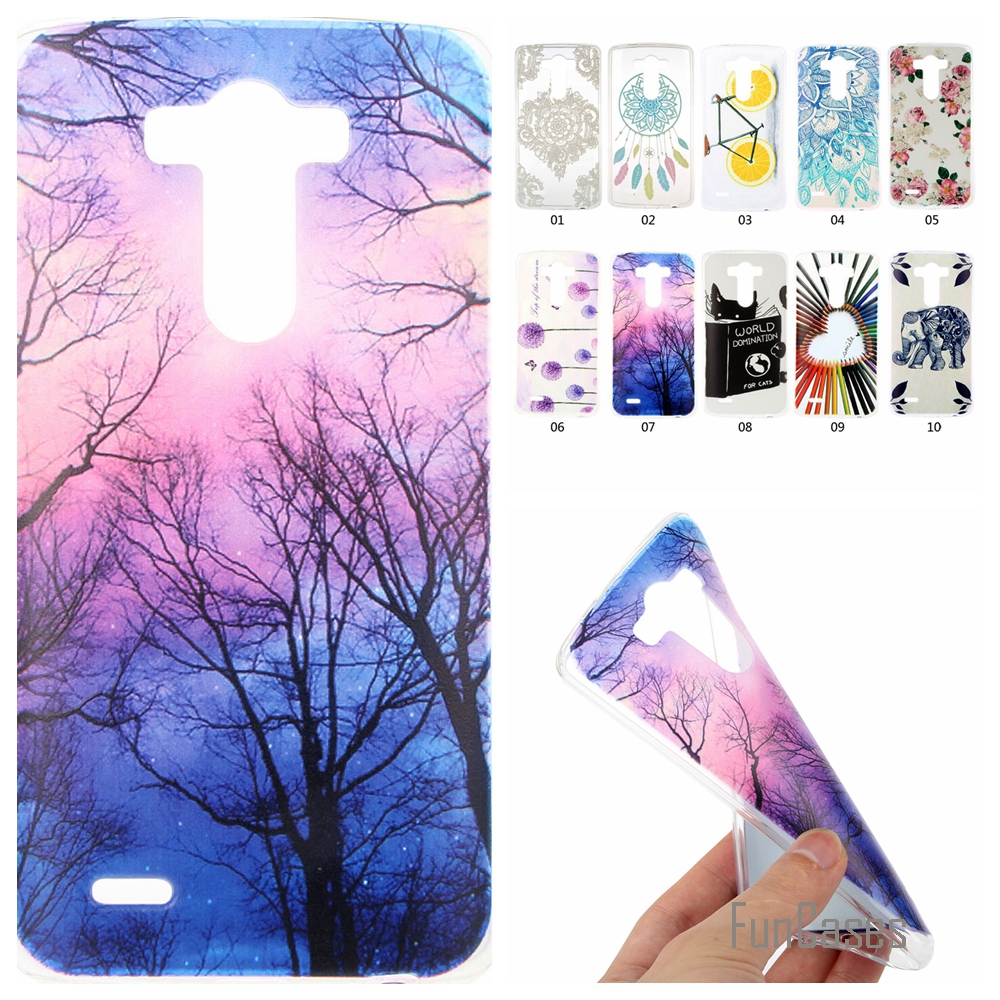 Soft Silicone Case For coque LG G3 D830 D850 D831 D855 phone case cover for coque LG G3 Cartoon Lemon Bike Rubber Back Cover