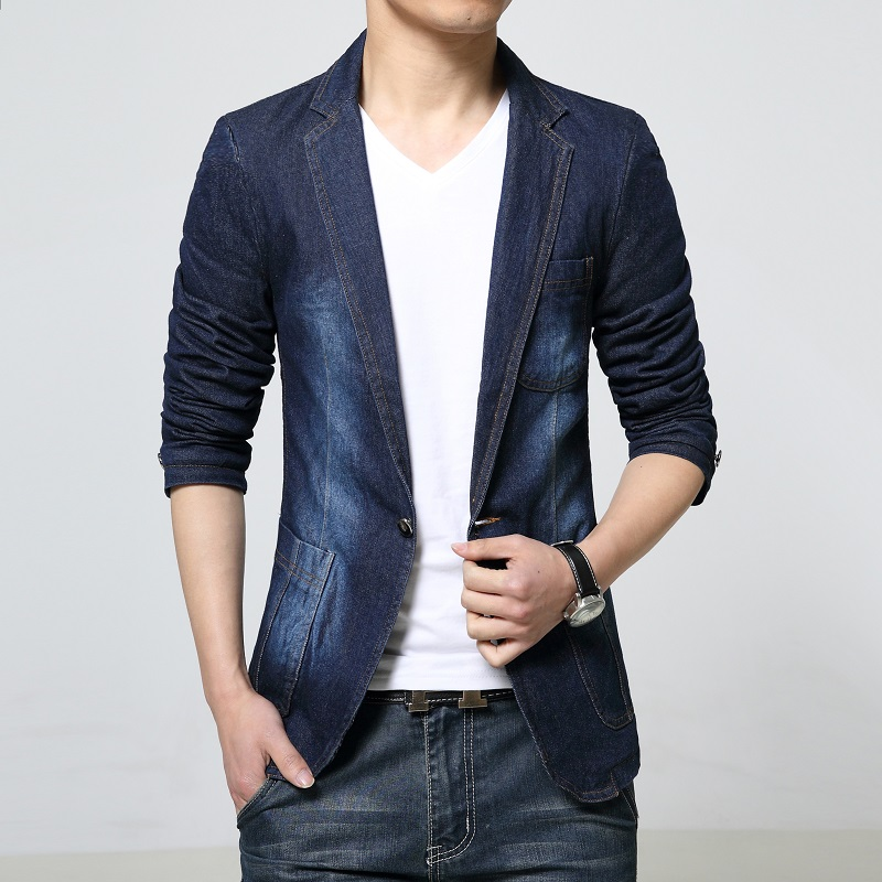 Online Get Cheap Black Denim Blazer -Aliexpress.com | Alibaba Group