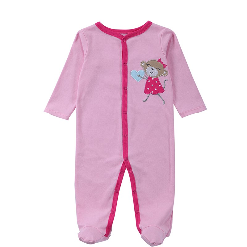 2016 Spring Autumn Baby Romper Long Sleeves Baby Clothes Baby Boy Clothes Cartoon Animal Jumpsuit Baby Girl Romper Baby Clothing (9)