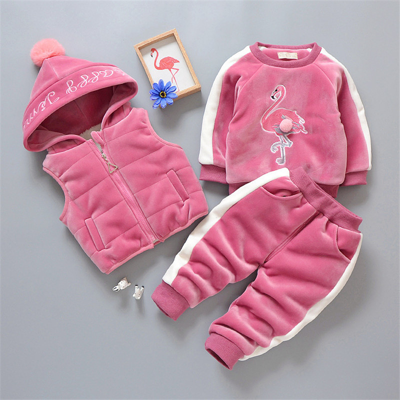 Winter Suits For Girls Boys Winter Clothes Sets Baby Boy Clothing Sets Casual Sport Children Suits Toddler Thick Warm Coats 3Pcs все цены