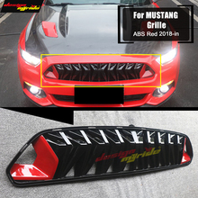 Fit For Ford Mustang grill grille ABS Red & balck 1:1 Replacement For Mustang Front Bumper Kidney Racing Grills Front Mesh 2018+ цена