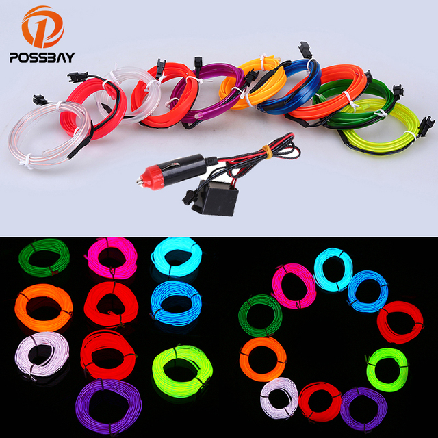 POSSBAY M LED Flexible Neon Light Glow EL Wire Car Moto - Car sign with namesonline get cheap d led sign aliexpresscom alibaba group