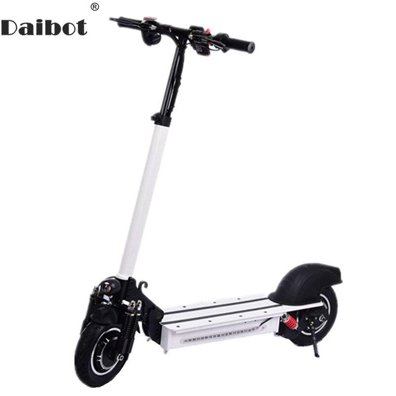 Scooter électrique portatif de 10 pouces 600 W * 2 Scooters électriques à deux roues Double moteur 48 V puissant Scooter électrique pliable