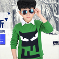 2016 New Winter Autumn Kids Boys Sweater Children Sweater Children Outerwear Cartoon monster Sweater Long Sleeve Kids Sweater