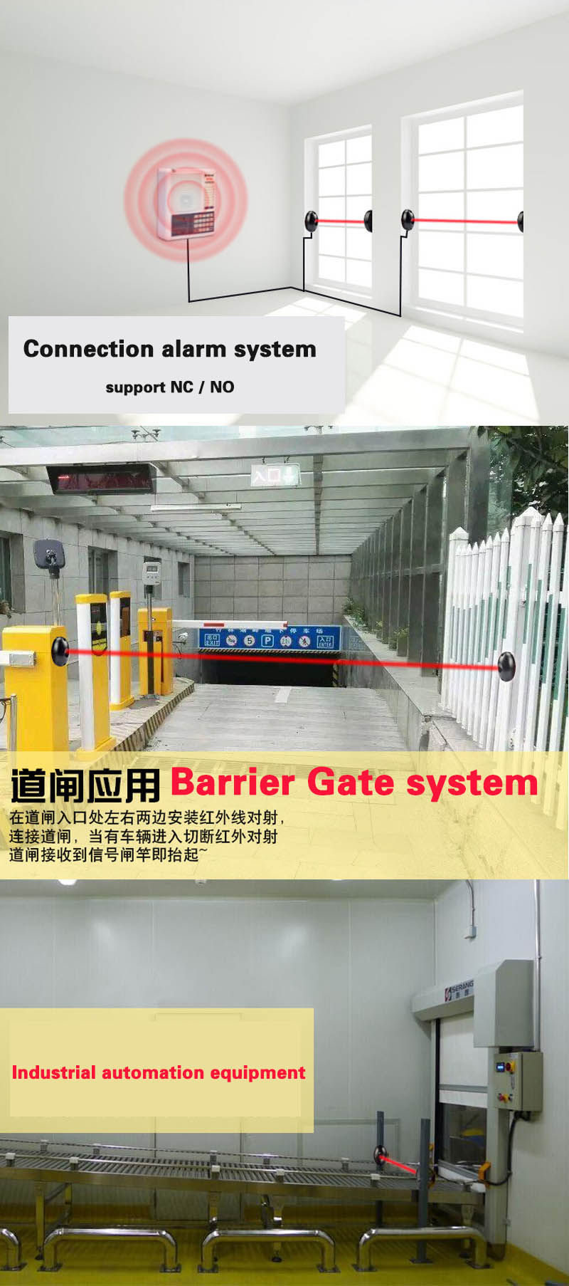 Galo Door Sensor Compatible With Bft Came Faac Gate Opener Barrier Infrared Intrusion 3