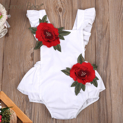 Humor Bear Infant Clothes 2017 New Summer Baby Girls Clothes Lovely Fashion Embroidered Rose Baby Clothing Sets