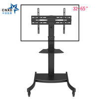 Fashional TV Floor Stand TV Bracket Mount Mobile TV Carts Holder with Tray DVD Shelf Fit for 32 60 Max Support 30KG Weight