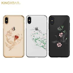 Image 2 - IPhone X/ XS/ XS 용 Kingxbar 다이아몬드 커버 케이스 iPhone XS/ MAX 용 스와 로브 스키 라인 석 케이스에서 크리스털로 장식 된 최대