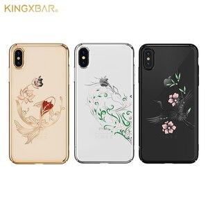 Image 2 - Kingxbar Diamond Cover Dành Cho iPhone X/ XS/ XS MAX Tôn Tạo Với Tinh Thể Từ SWAROVSKI Đính Kim Cương Giả Dành Cho iPhone XS/ MAX