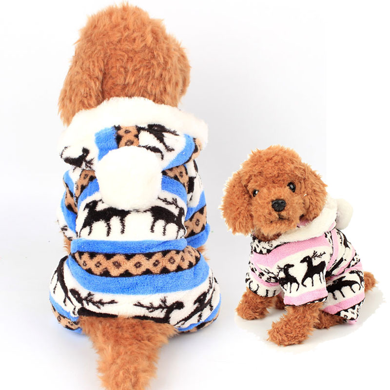 Classic Pet Clothing Cat Costume for Autumn and Winter Warm Fleece Kitten Hoodies Coat Christmas Pet Party Costume Puppy Suit