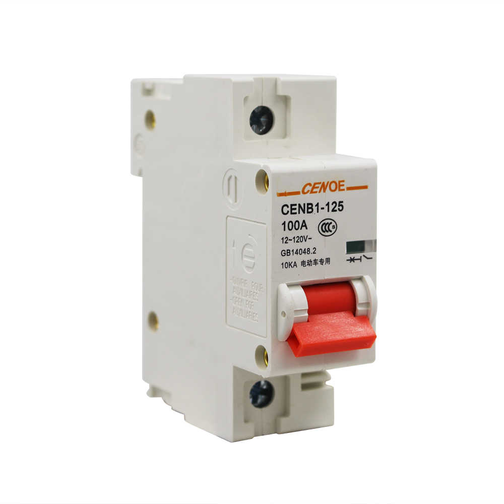 1P 125A 100A 80A 63A 120V breaker DC electric vehicle mini DC circuit breaker with excellent 10KA breaking capability 2019 newly