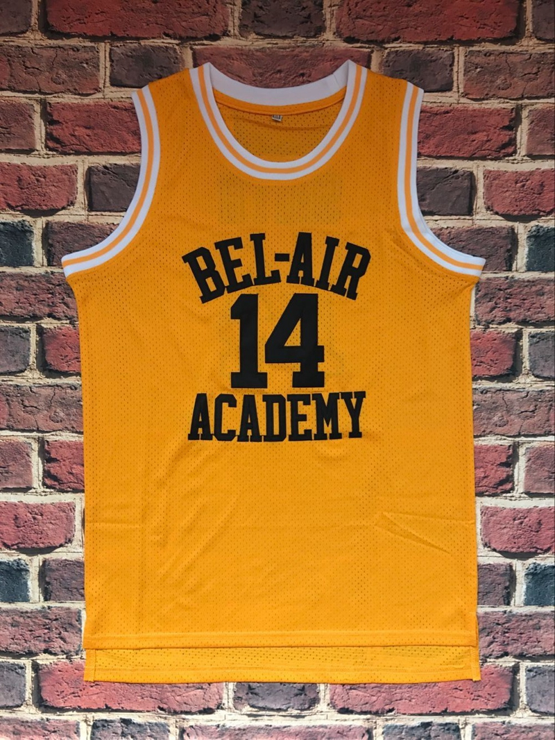 44854185bee5 The Fresh Prince Of Bel Air Academy Jersey  14 Will Smith Black Yellow Mens  jersey All Stitched