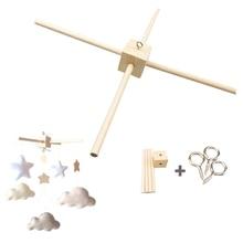 1Set Mobile Baby Hanger Baby Mobile Crib Hanger Frame Mobile DIY Crafts Frame Mobile Holder Wood Newborn Toy ChildrenS Goods
