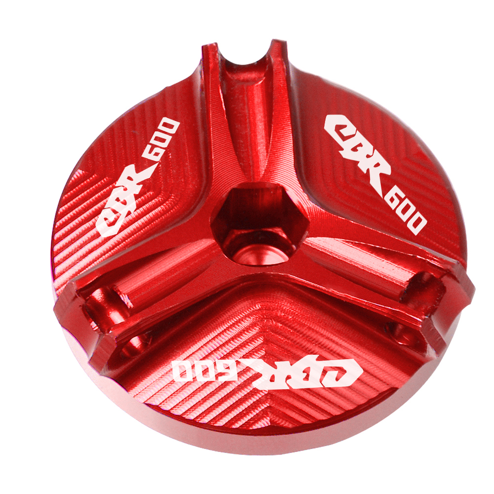 Motorcycle Engine Oil Filler Cup Cap Filler Cap Plug Cover For HONDA CBR600 CBR 600 F2 F3 F4 F4i CBR600 F2 1991 2007 2006 2005 in Covers Ornamental Mouldings from Automobiles Motorcycles
