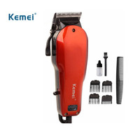Kemei Hot sale Rechargeable Washable Electric Hair Trimmer Clipper Tools Haircut Hair Cutting Machine Barber child baby Adult