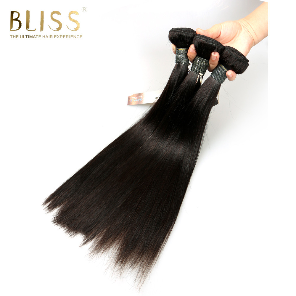 Bliss Hair Straight Brazilian Hair Weave 3 Bundles 210 gram 8-30 inch Deals Human Hair Bundles 100% Remy Hair Extensions