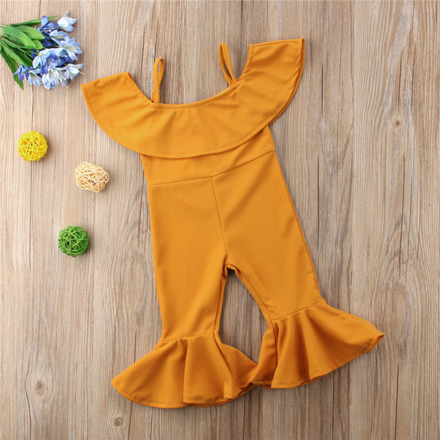 Kids Flare Bib Pants Clothes Toddlers Girl Loose Slim Fit Bell Bottom Pants Leggings Kids Girls Jumpsuit
