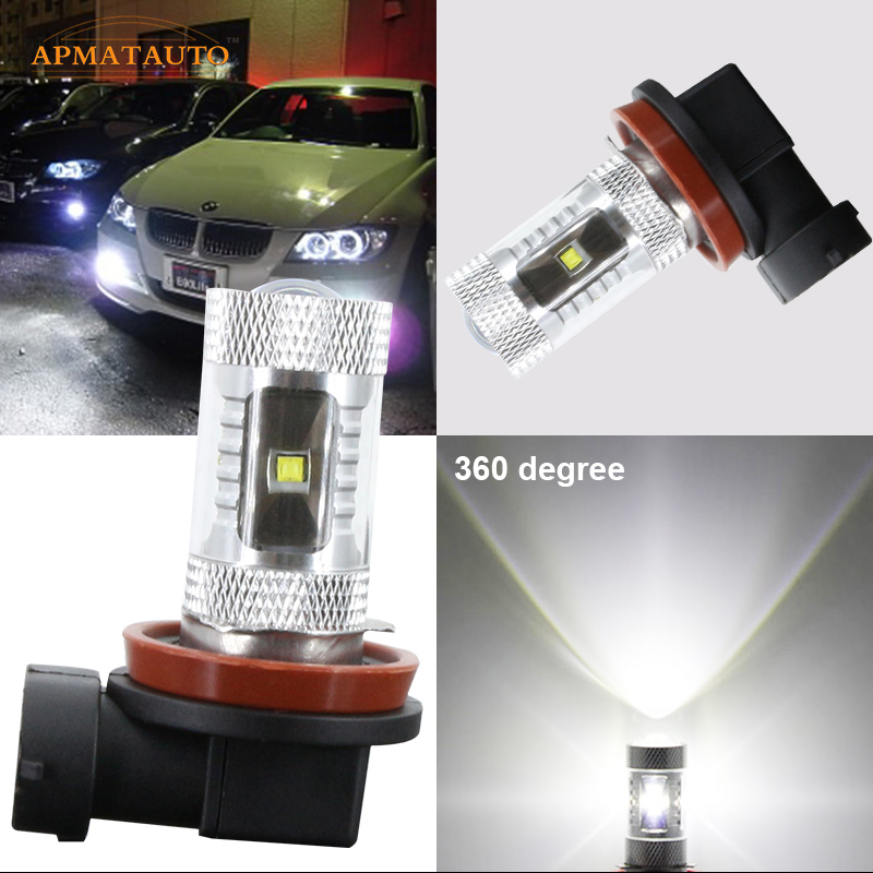 Pair High Power  Xenon White H8  H11 Fog Light for   CREE Chips  LED Kit  For   BMW E92 E93 BMW 2009-2012